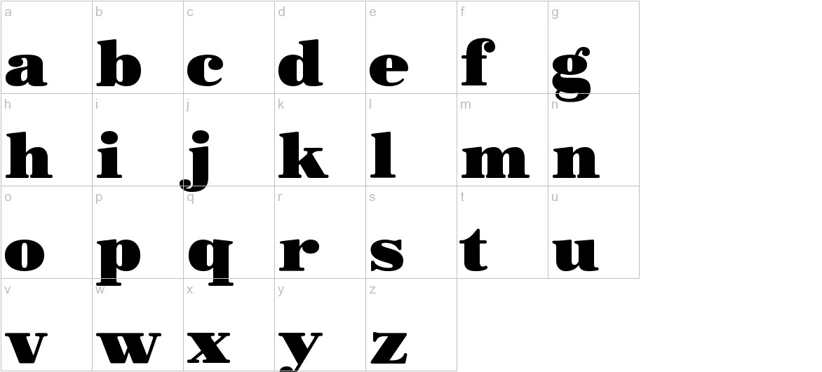 Morbodoni lowercase