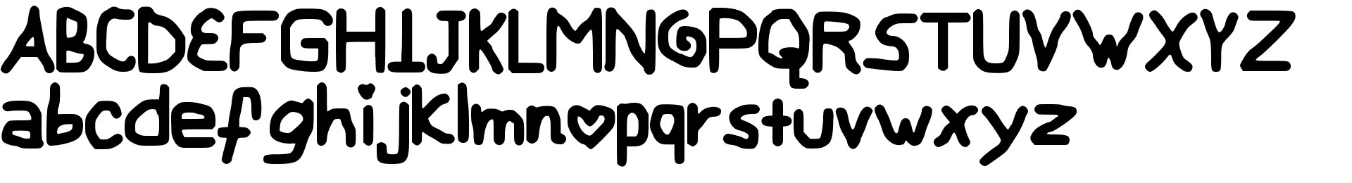My Childish Font