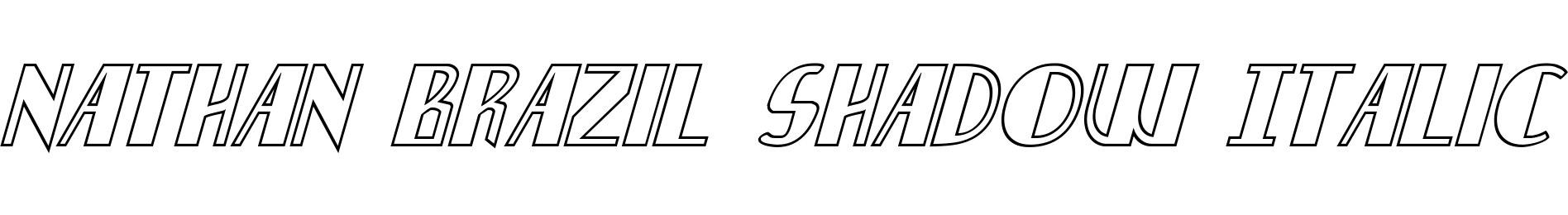 Nathan Brazil Shadow Italic