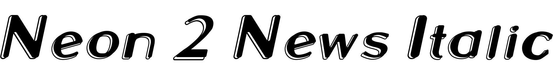 Neon 2 News Italic