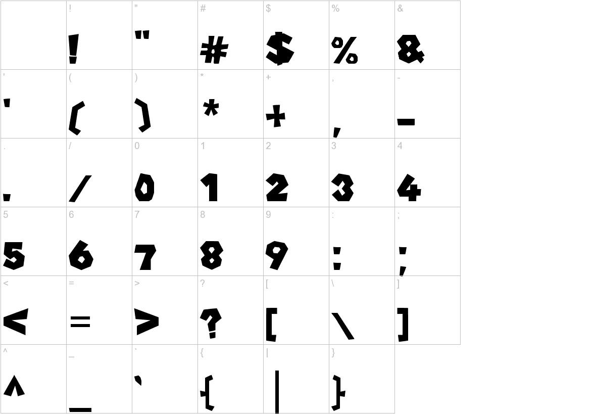 New Super Mario Font U characters