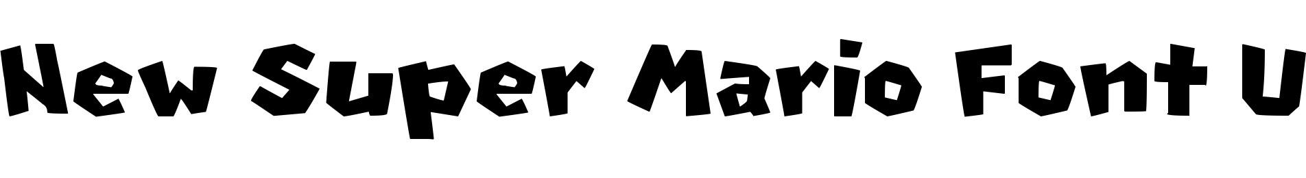 New Super Mario Font U