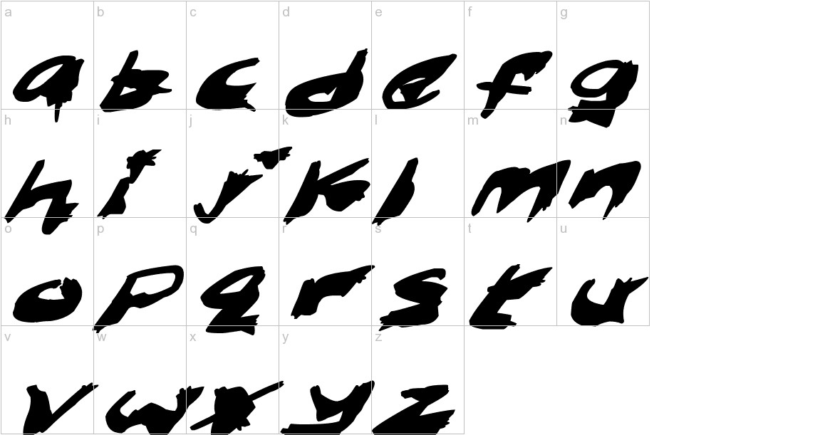 Nightmare Ink Italic lowercase