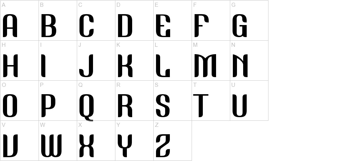 Nudely Regular One Version uppercase