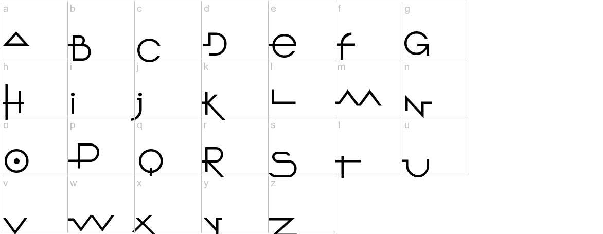 O 10 Type lowercase
