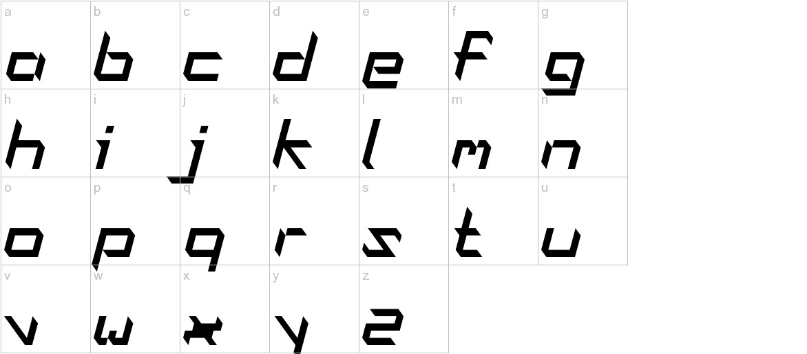 Oblaque Oblique lowercase