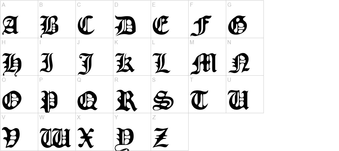 Old Europe uppercase