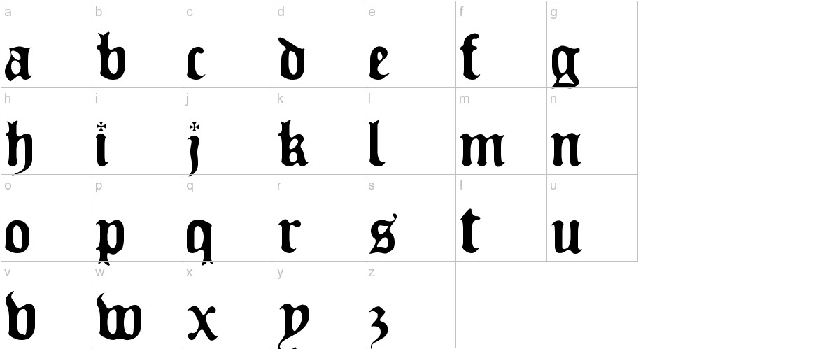 Old Europe lowercase