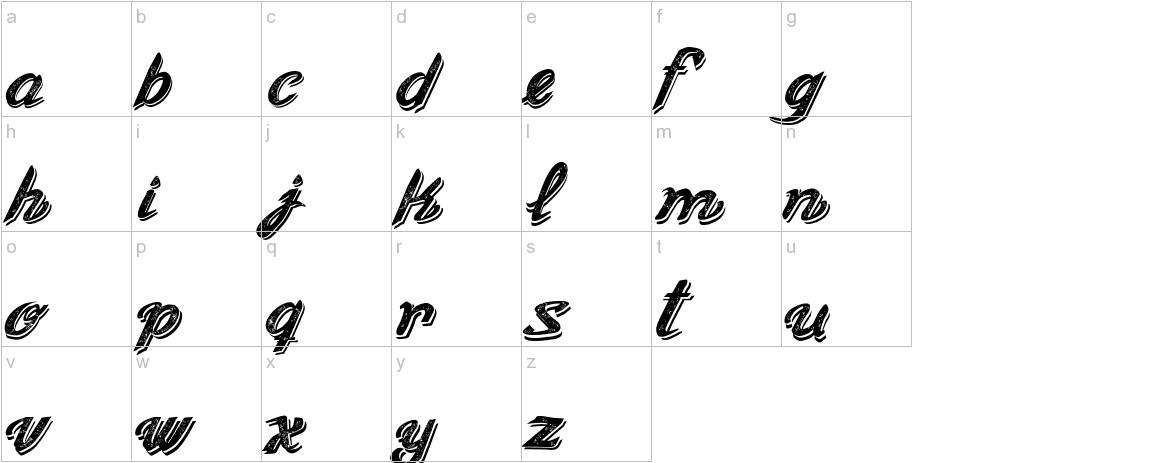 Old Figaro Cursive Italic lowercase