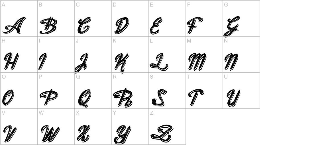 Old Figaro Cursive Italic uppercase