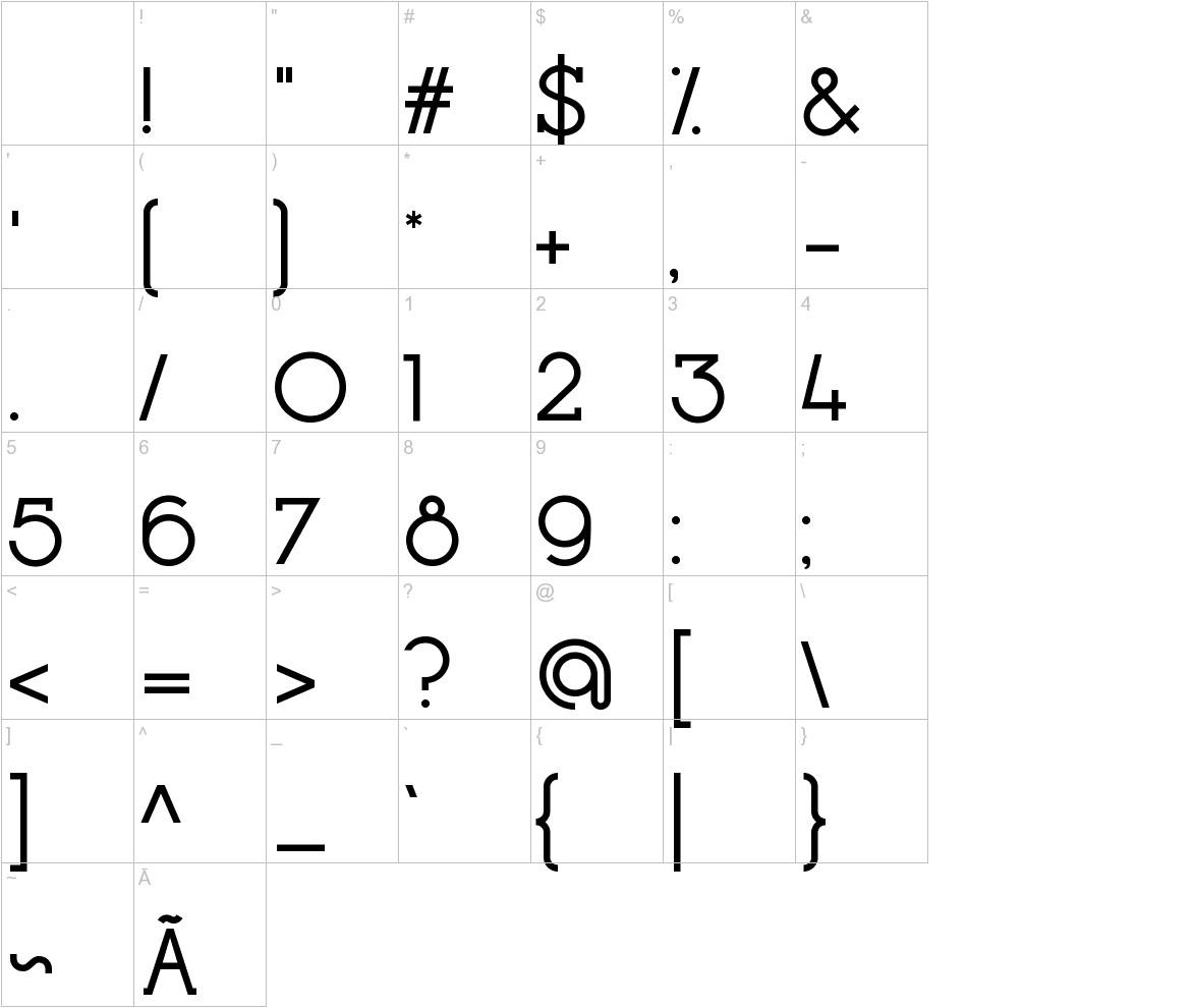 Opificio Serif characters