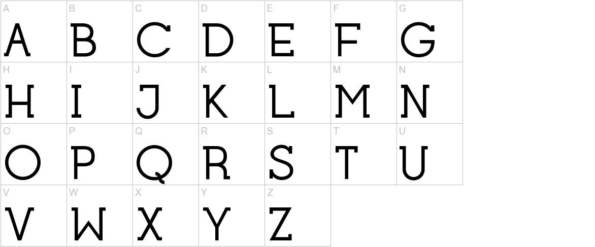 Opificio Serif uppercase