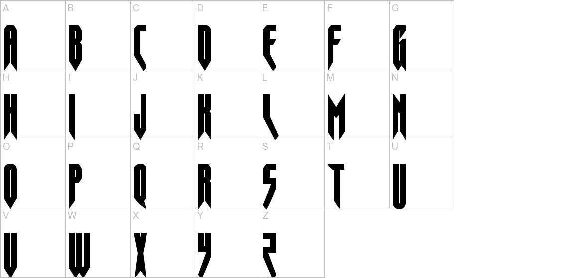 Opus Magnus Condensed uppercase