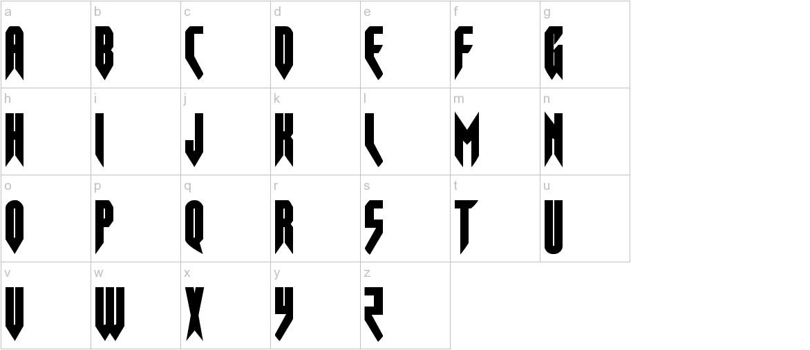 Opus Magnus Condensed lowercase