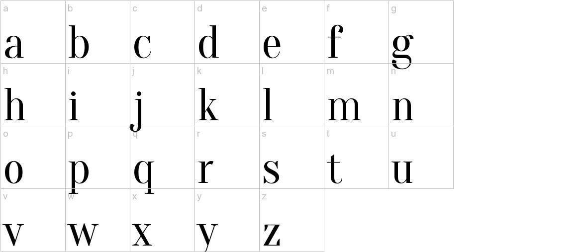 Oranienbaum lowercase