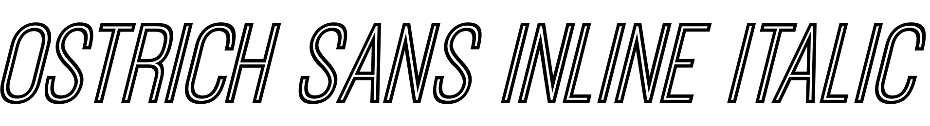 Ostrich Sans Inline Italic
