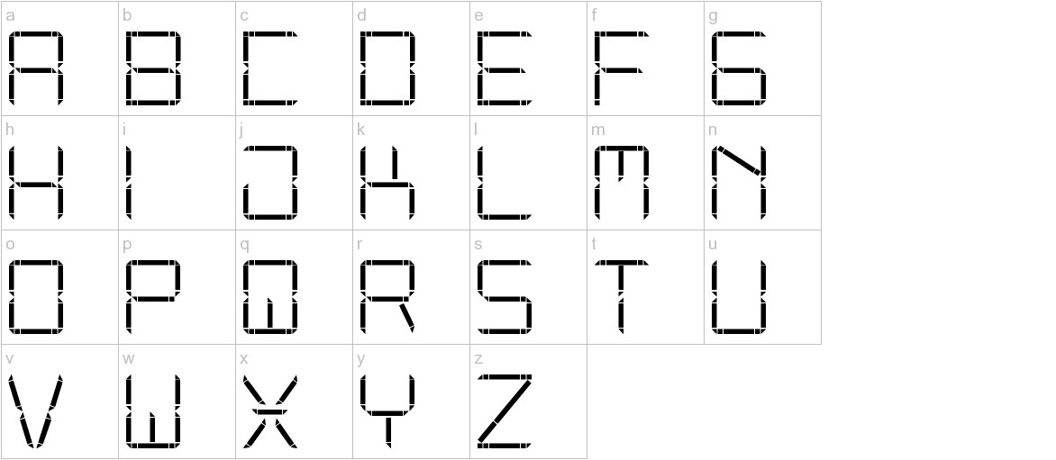 Other Display St lowercase