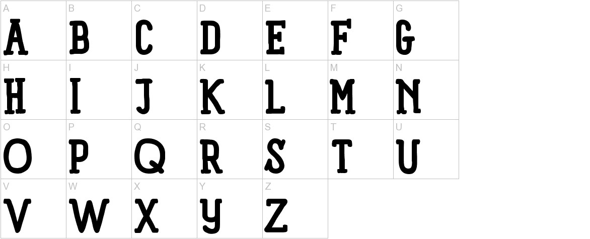 Panforte Serif Bold uppercase