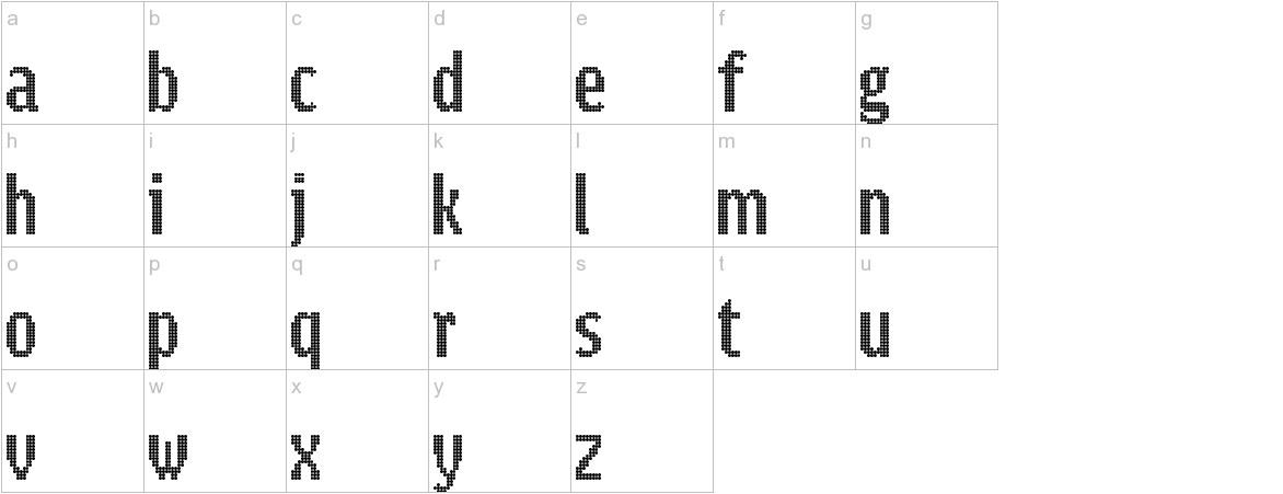 Parisienne lowercase