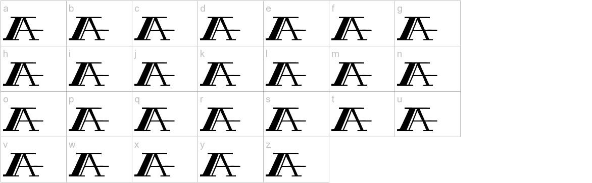 PEACOCK normal lowercase