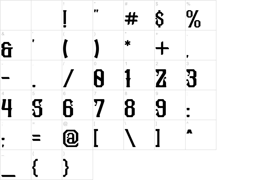 Pilar Typeface Display characters