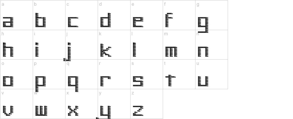 Pinstripe Bitmap lowercase