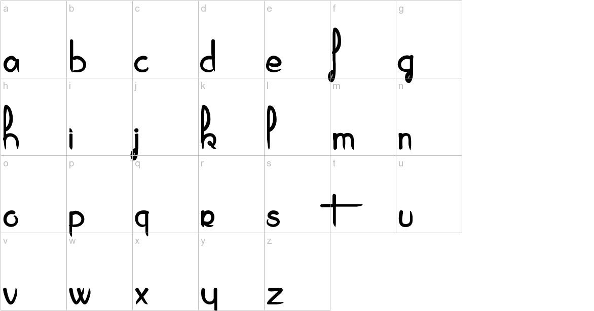 Piragniac lowercase