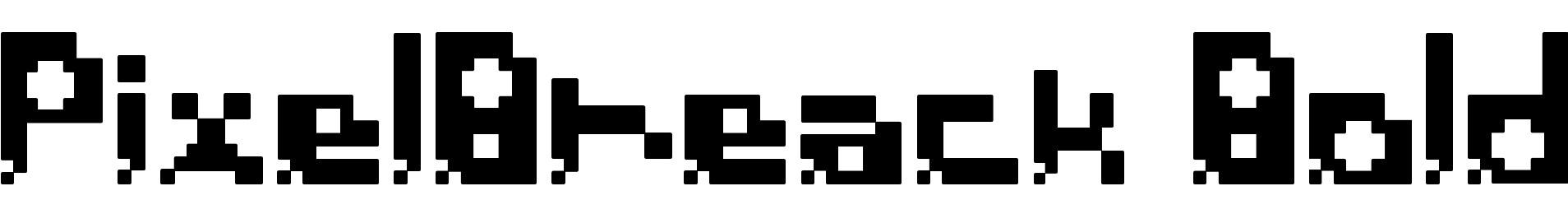 PixelBreack Bold