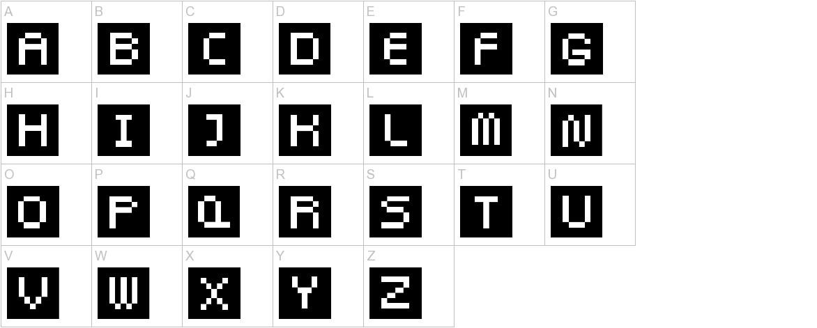 Pixel Twist uppercase