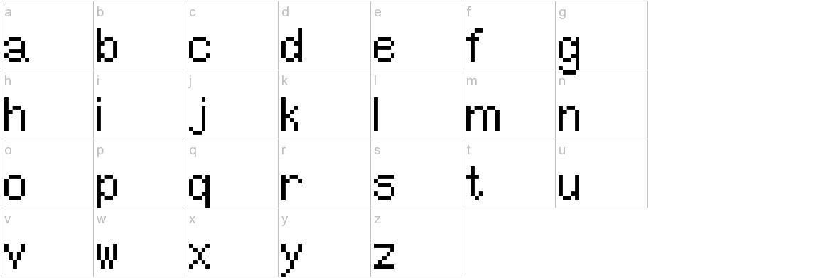 Pixel UniCode lowercase