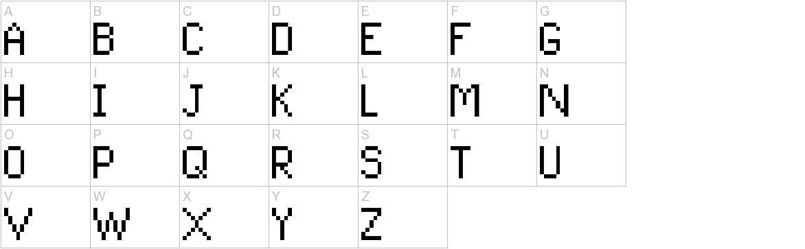 Pixel UniCode uppercase