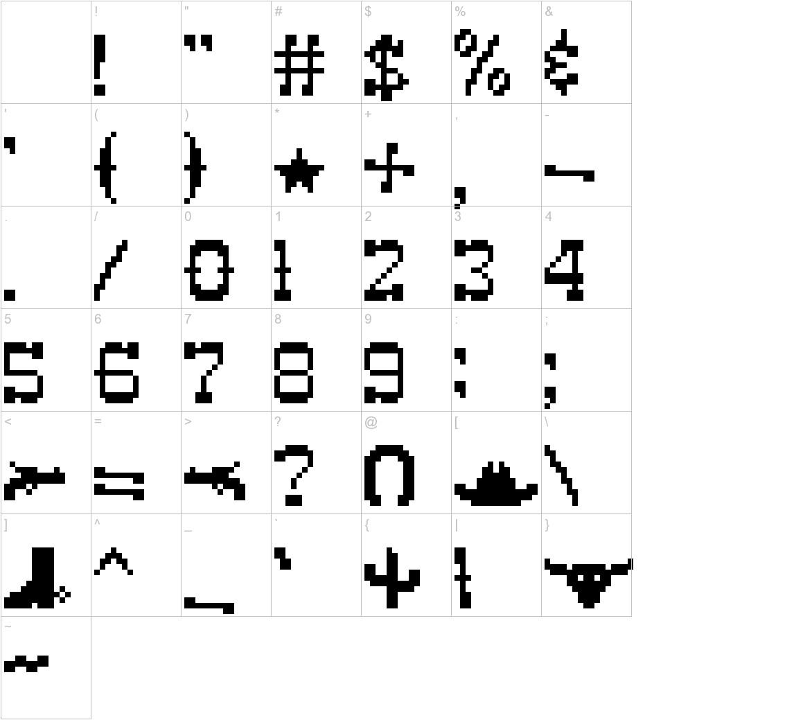 Pixel-Western Font