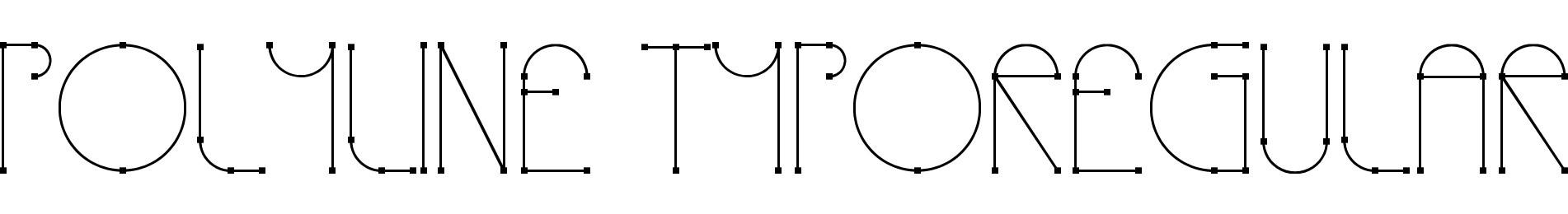 Polyline TypoRegular