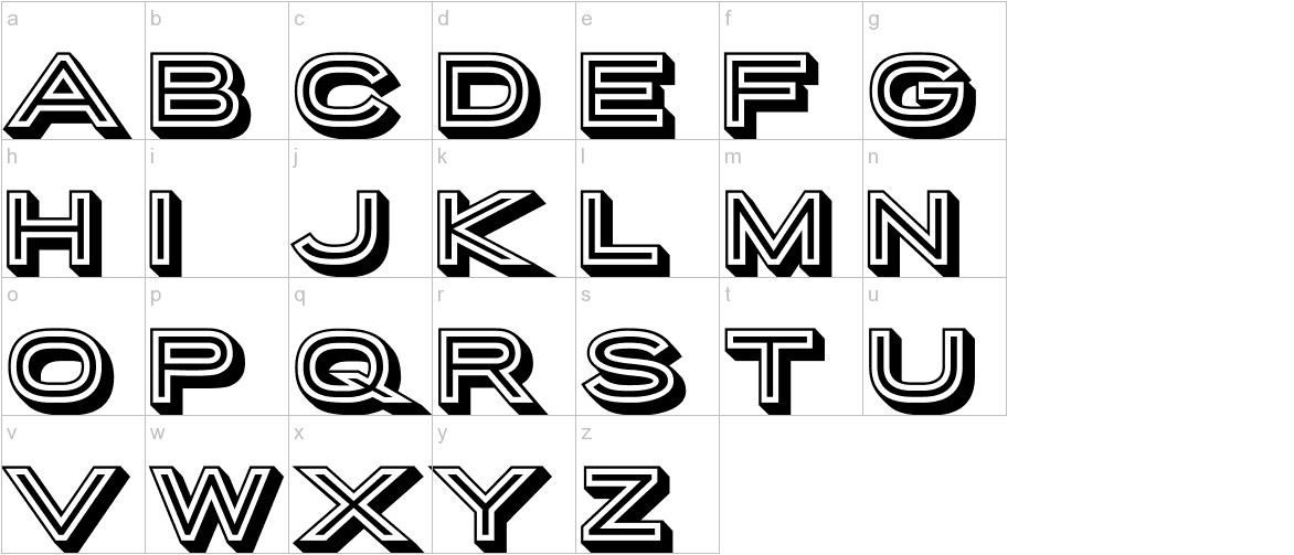 Porter Sans Block lowercase