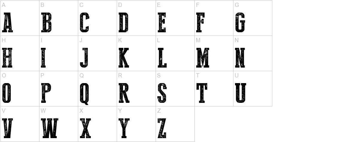 Press Style Serif uppercase