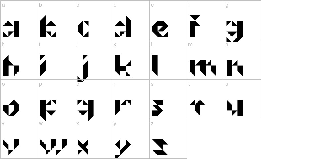 Prismakers lowercase