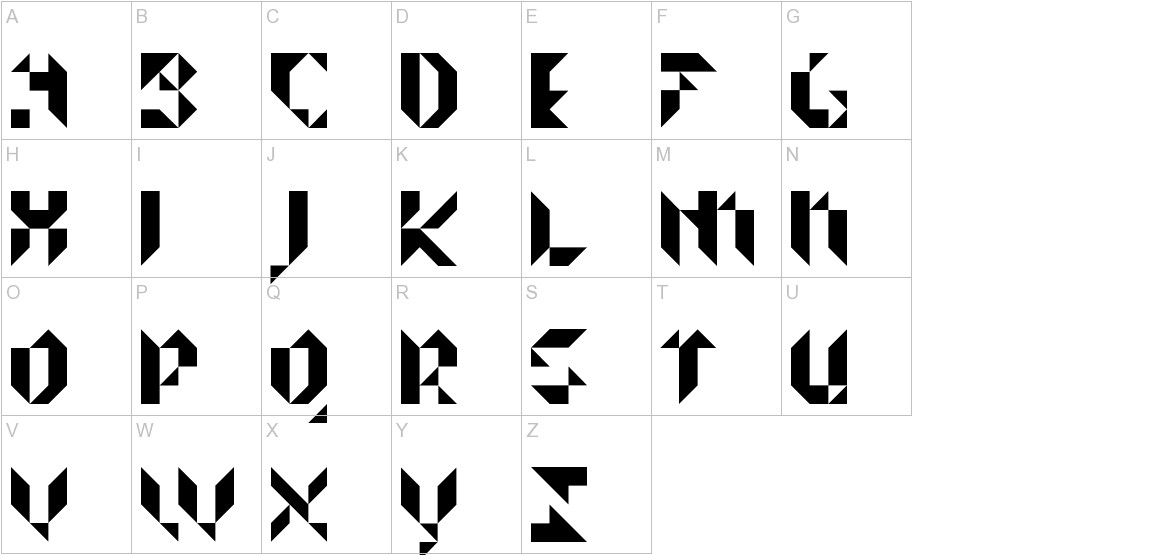 Prismakers uppercase