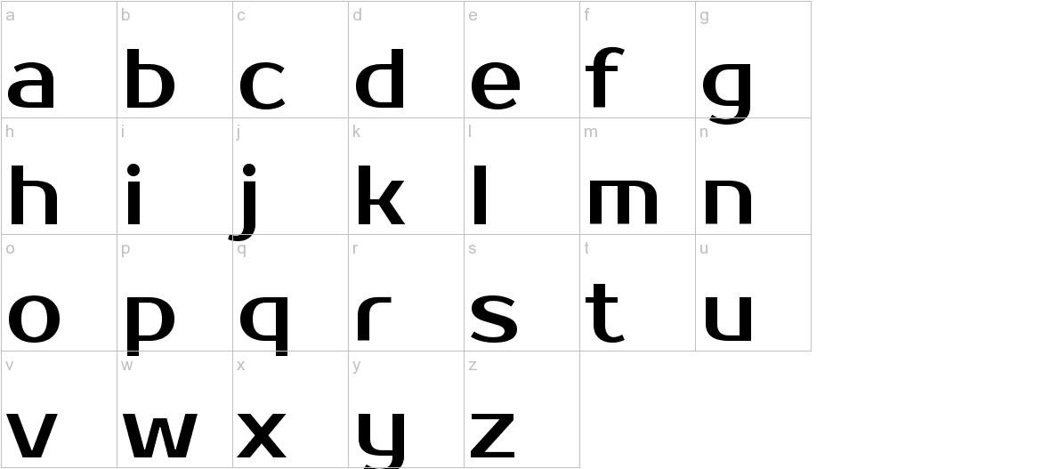 Prosto One lowercase