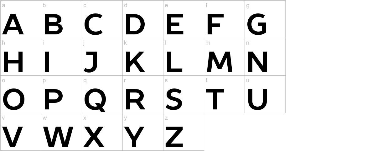 Prosto Sans Bold lowercase