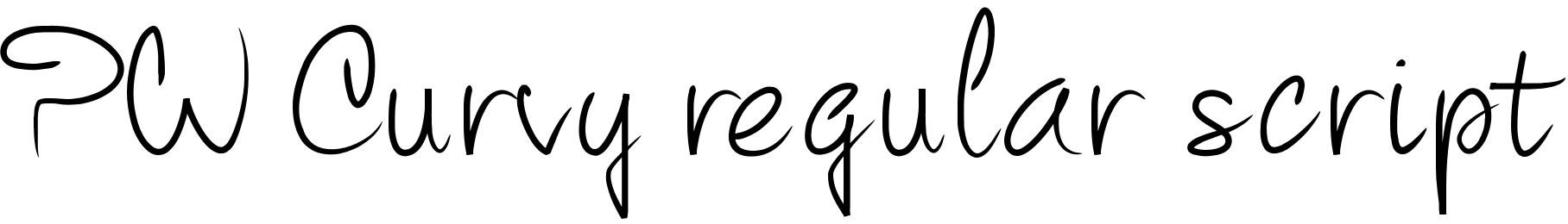 PW Curvy regular script