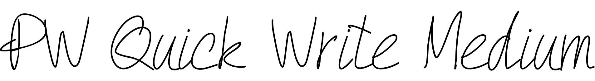 PW Quick Write Medium