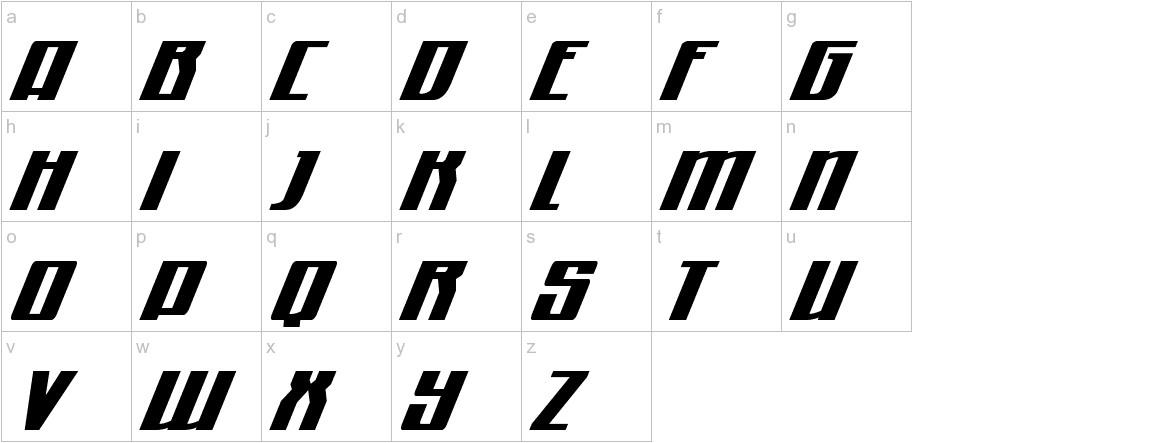 Quantum of Malice Drop Italic lowercase
