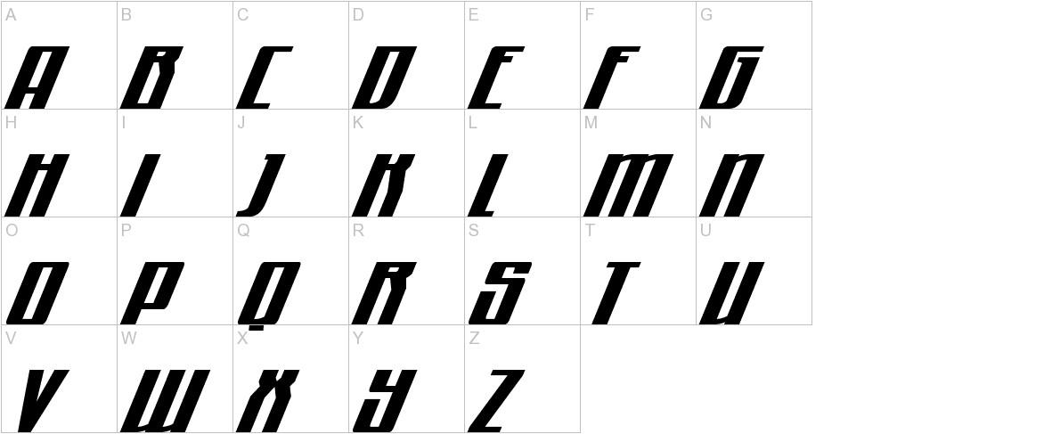 Quantum of Malice Drop Italic uppercase