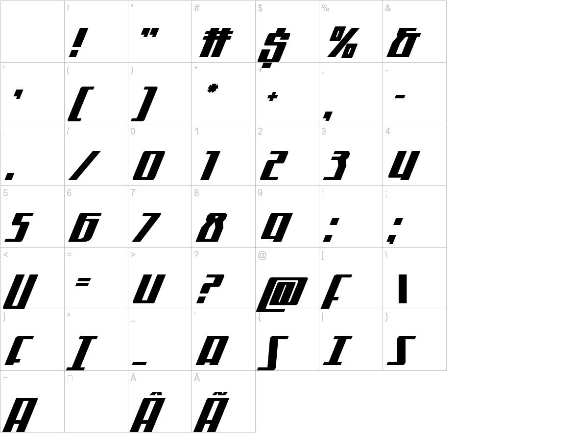 Quantum of Malice Drop Italic characters