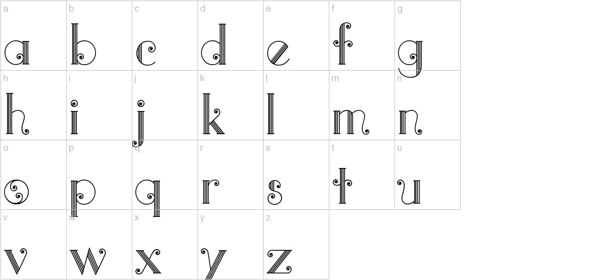 Quito Colonial LT lowercase