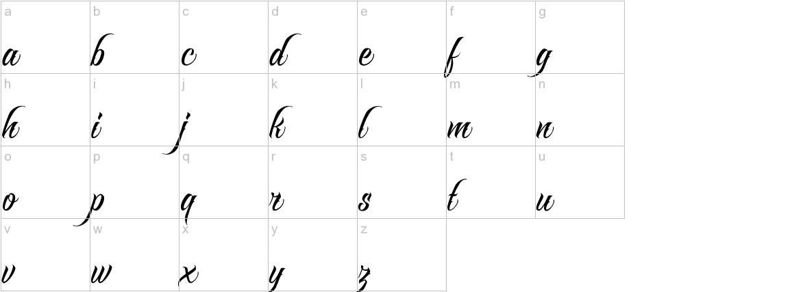 Raven Script lowercase