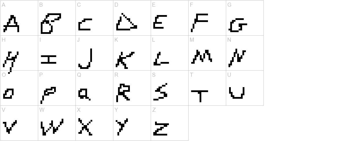 RDJ-Hand Pixel uppercase
