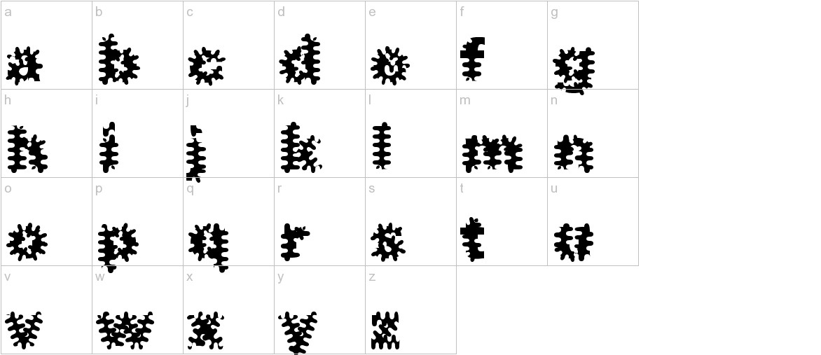 Inkblots lowercase