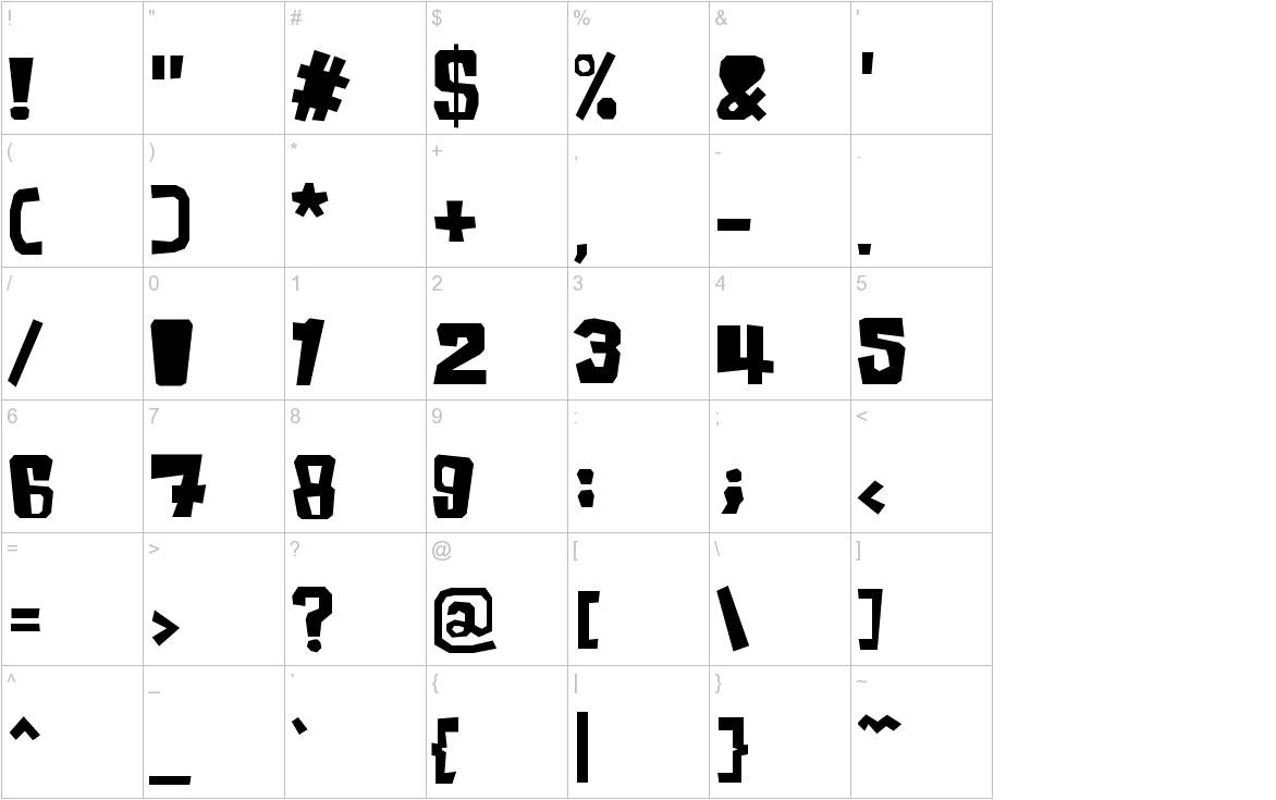 InkyBear characters