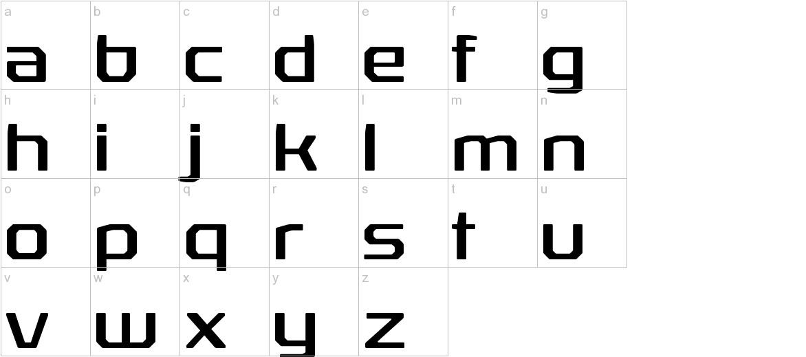 RexliaRg-Regular lowercase